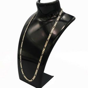 """14k Stamped 4mm 24"""" Figaro Link Chain"""